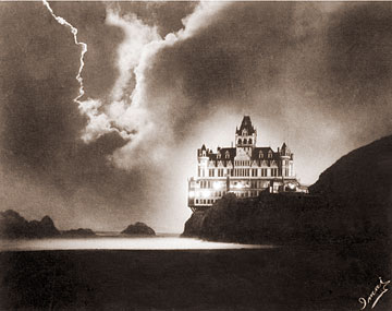 Vintage Photograph of Cliff House at Night