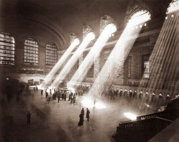 Vintage Photograph of Grand Central Station Interior