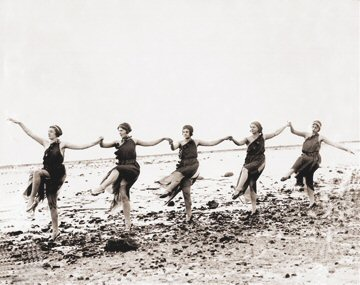 Vintage Photograph of Beach Dancers
