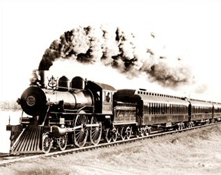 "Vintage Photograph of Locomotive ""999"""