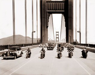Vintage Photograph of Opening Day of the Golden Gate Bridge