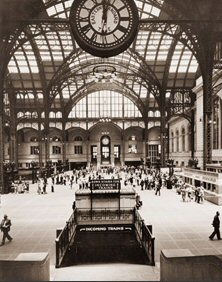 Vintage Photograph of The Clock in Penn Station