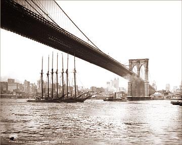 Tall Ships Near The Brooklyn Bridge Historical Photos Of