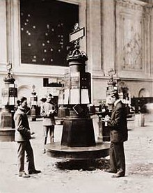 Vintage Photograph of Interior of the New York Stock Exchange
