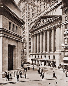 Vintage Photograph of New York Stock Exchange