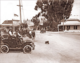 Vintage Photograph of San Jose- Meridian Corners