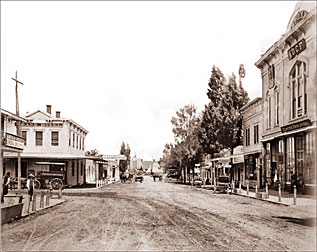 Redwood City Main St Historical Photos Of Old America