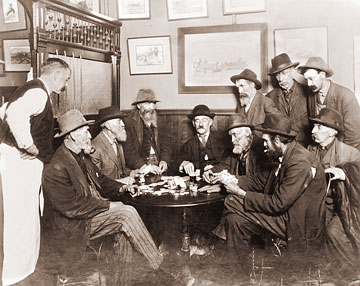 Vintage Photograph of Poker Game
