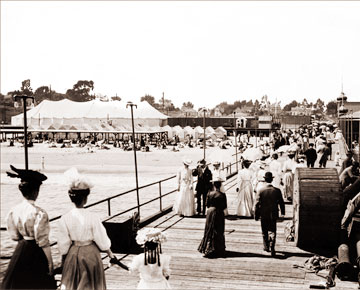 Vintage Photograph of Santa Cruz Boardwalk