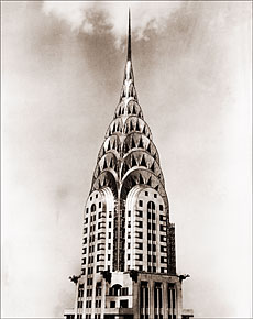 Vintage Photograph of Chrysler Building Tower