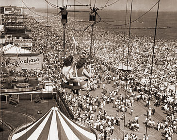 Vintage Photograph of Coney Island Beach