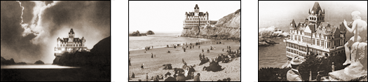 Vintage Photograph of Three Historical Views of the San Francisco Cliff House