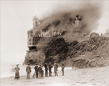 Cliff House On Fire Historical Photos Of Old America
