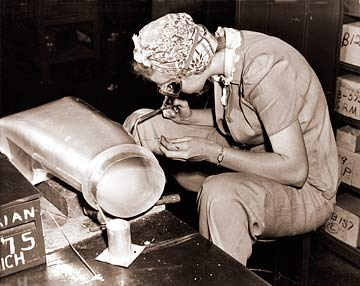 Vintage Photograph of Woman Welder