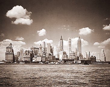 Vintage Photograph of Manhattan Skyline