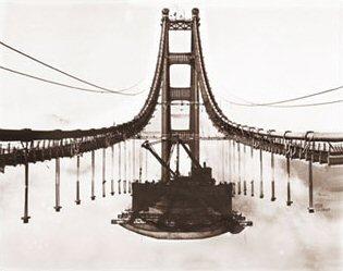 Golden Gate Bridge Construction Quot Island In The Sky