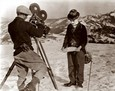 "Vintage Photograph of Charlie Chaplin filming ""The Gold Rush"""