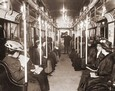 Vintage Photograph of Women's Subway Car