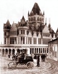 Vintage Photograph of Early Oldsmobile near Cliff House