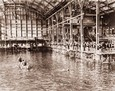 Vintage Photograph of Interior of the Sutro Baths
