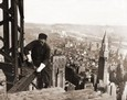 Vintage Photograph of Construction Worker on Empire State Building