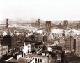 Vintage Photograph of Brooklyn & Manhattan Bridges