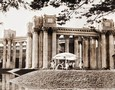 Vintage Photograph of Dancers near the Palace of Fine Arts S. F.