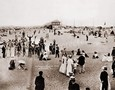 Vintage Photograph of Beach in Coney Island