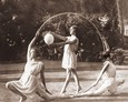Vintage Photograph of Hoop Dancers