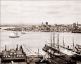 Vintage Photograph of View of New York Harbor from Brooklyn Heights