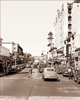 Vintage Photograph of Santa Cruz - Pacific Ave.