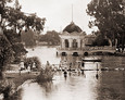 Vintage Photograph of Gazebo in Echo Park