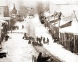 Vintage Photograph of Grass Valley - Tobogganing down Main Street