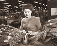 Vintage Photograph of Female Factory Worker