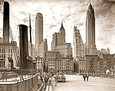Vintage Photograph of Lower Manhattan Skyline