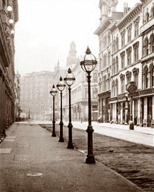 Gas Prices In California >> Street Lights on Montgomery Street - San Francisco (Historical Photos of Old America)