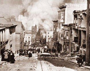 Used Cars Bay Area >> Sacramento Street Earthquake (Historical Photos of Old ...