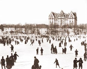 Ice Skating In Central Park Dakota Historical Photos Of