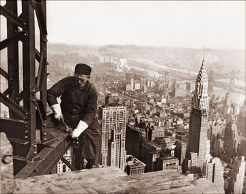 Construction Worker On Empire State Building Historical
