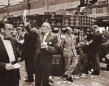 Traders On New York Stock Exchange Historical Photos Of