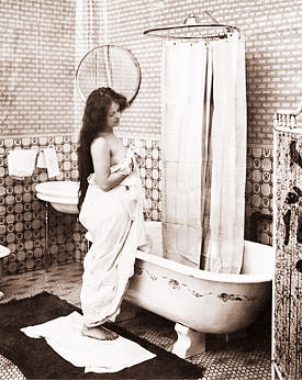 Vintage bath scene historical photos of old america for Vintage bathroom photos