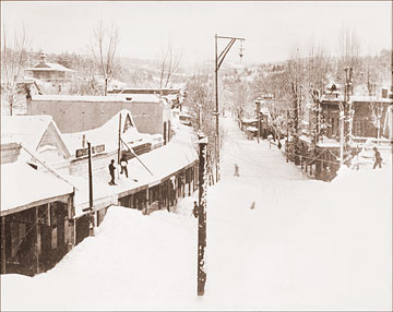 Grass Valley After A Snow Historical Photos Of Old America