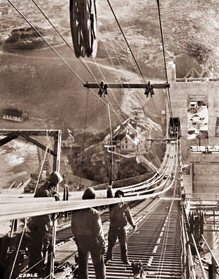 Used Cars Bay Area >> Golden Gate Bridge construction - Spinning the Cable ...